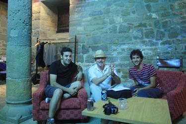Con Pepe y Sergio